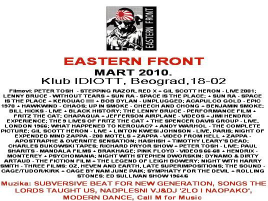 EASTERN FRONT, program MART 2010.