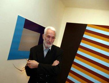 """4 fotografije IZ FOLDERA/Sa otvaranja izlozbe Andrea Jakopo Prine (Jacopo) u galeriji """"ZVONO"""" u Beogradu."""